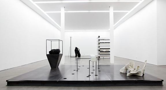 "Nick Van Woert's ""Anatomy"" installation at Yvon Lambert Gallery, Paris, 2011. Photo courtesy of Yvon Lambert Gallery."