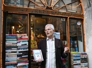 Author Stephen Clarke at The Abbey Book Shop, Paris.
