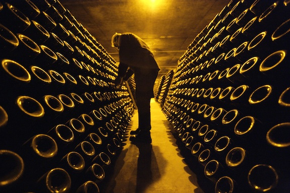 Riddling Champagne. Photo: Clay McLachlan ©2011 Claypix