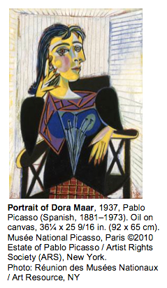Portrait of Dora Maar, 1937, Pablo Picasso