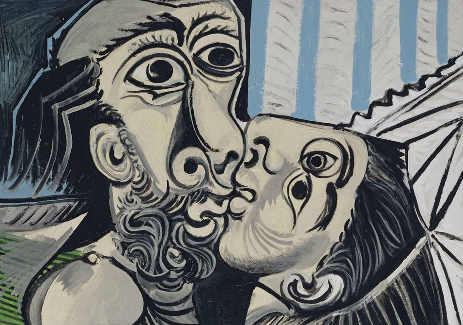 Le Baiser (The Kiss, 1969) by Picasso  writer's photo