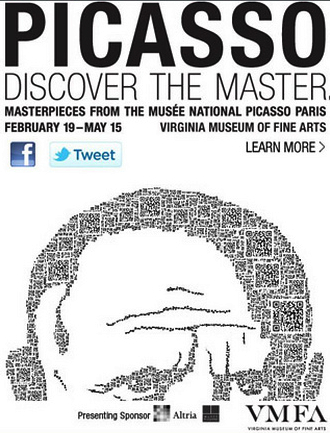 poster, Picasso: Masterpieces from the Musée National Picasso, Paris at the Virginia Museum of Fine Arts