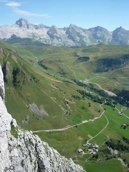 View from a via ferrata route