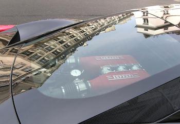 Ferrari reflecting Paris. Photo: Norman Ball