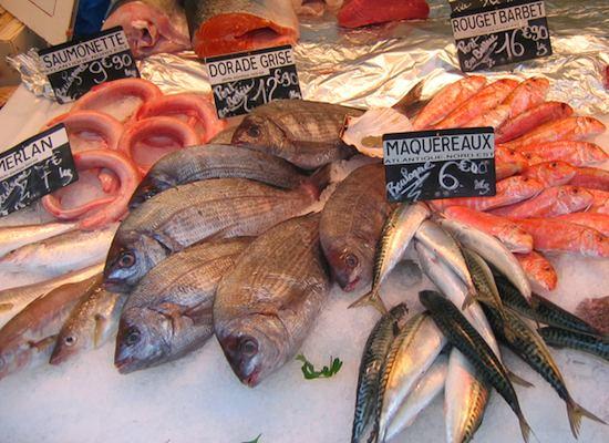 fish monger's stand. Photo: ©Wine Girl