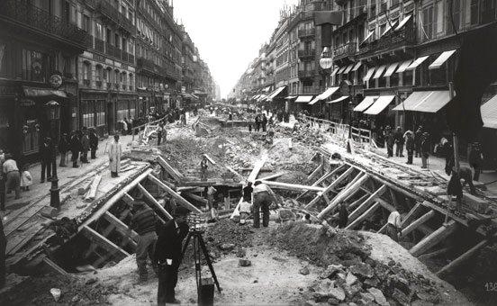 Métro construction circa 1900   photo courtesy RATP