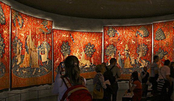 Lady and the Unicorn tapestries at Cluny Museum. Photo: CHammett