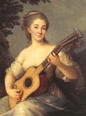 """Vigee-Le Brun, """"Marquise de Mirabeau."""" Public domaine."""