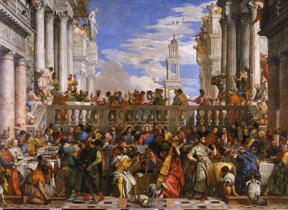 The Wedding Feast at Cana , Paolo CALIARI, known as VERONESE (Verona, 1528 – Venice, 1588)  Photo: R.M.N. - Louvre