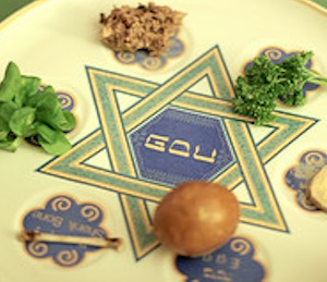 """Passover seder plate """"photo courtesy of Gwen from Flickr Creative Commons"""""""