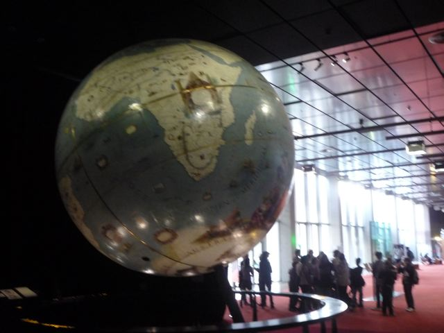 Coronelli Globe at Bibliotheque Nationale. Photo: S. Peabody