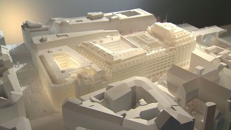"architectural model, LVMH ""Cheval Blanc"" Hotel"