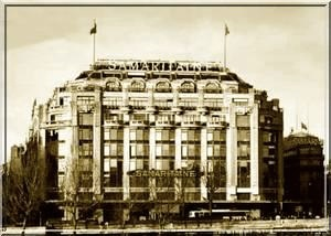 Samaritaine in antique postcard