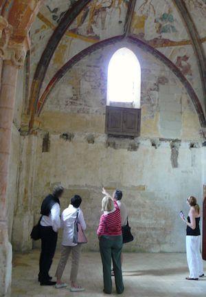 Chapel at Chateau de Pimpean. Photo: Cathy Shore