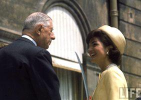 President de Gaulle meeting Jackie Kennedy, 1961, Paris. Photo: LIFE