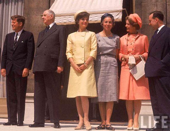 1961 Paris: the Kennedys & the de Gaulles. Photo: LIFE-Paul Schutzer
