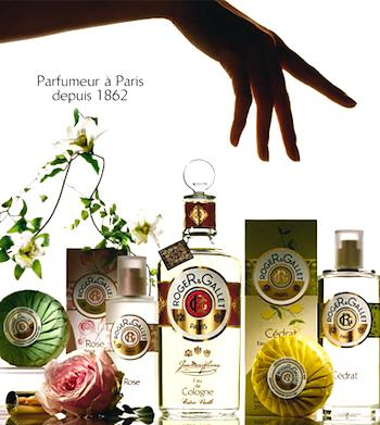 current advertisement for Roger&Gallet. Photo courtesy of ©Roger&Gallet