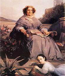 Portrait of Madame Clicquot and her great-granddaughter Anne de Mortemart-Rochechouart
