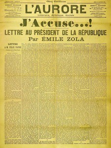 "Émile Zola's infamous ""J'Accuse"" letter to the President"