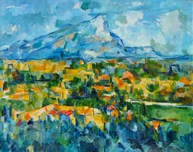 Mount Saint-Victoire by Cezanne  photo courtesy of Wikipedia