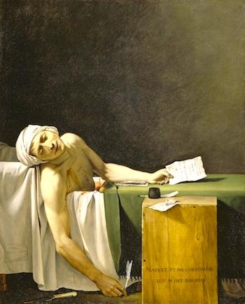 """Death of Marat"" detail. Photo credit: Reunion des Musees Nationaux/Art Resource, NY"