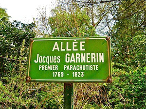 Plaque in honor of André Jacques Garnerin