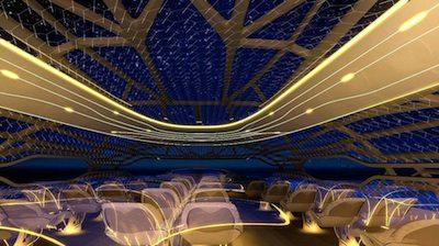"Front cabin ""vitalising zone"" ©Airbus press materials"
