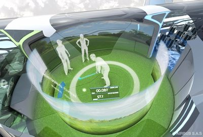 Interactive zone on future flights  ©Airbus press materials