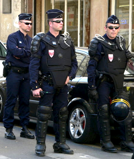 French CRS riot police