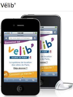 Vélib' app