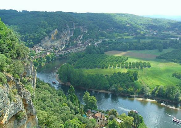 Dordogne River in the Perigord.